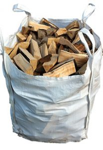 firewood - fire logs cut and bagged